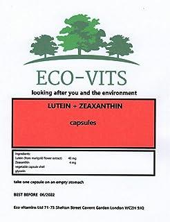 ECO-VITS Luteina (40mg) & ZEAXANTHIN (4mg) 365 CAPS Imballaggio biodegradabile