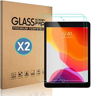 [2 Pack] TDA iPad 10.2 inch Glass Screen Protector (2019 Released, 7th Generation) Tempered Glass Film [Crystal Clear] [9H Hardness] [Bubble Free] for iPad 10.2 inch - Apple Pencil Compatible