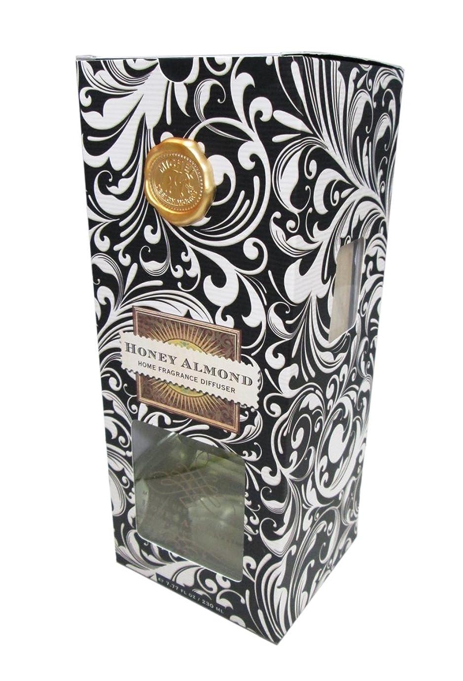 しかしながらソケットケーブルミッシェルデザインワークスルームフレグランスディフューザー【ブラックダマスク】香り:ハニーアーモンド HFD182