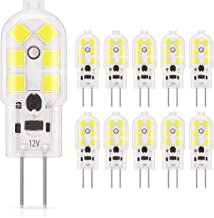 DiCUNO G4 LED Light Bulb Bi-Pin Base 1.5Watt 15-20W Halogen Bulb Equivalent 12 Volt Daylight White 6000K 180 Lumen Non-dim...