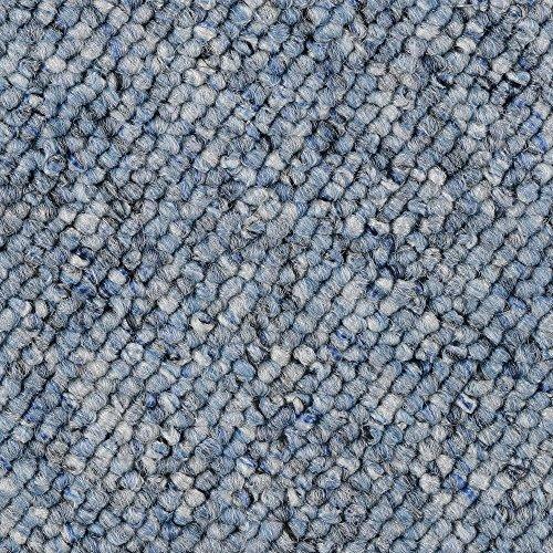 BODENMEISTER BM72181 Teppichboden Auslegware Meterware Schlinge blau 200, 300, 400 und 500 cm breit, verschiedene Längen, Variante, 5 x 5 m