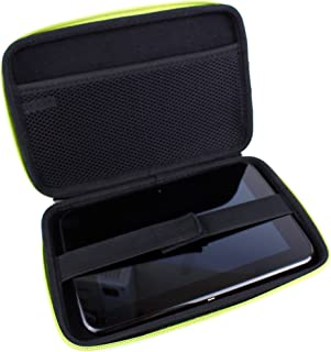 DURAGADGET Hardwearing Lime Green Protective Shell Case With Dual Zips & Elasticated Inner Strap For Tesco Hudl 7