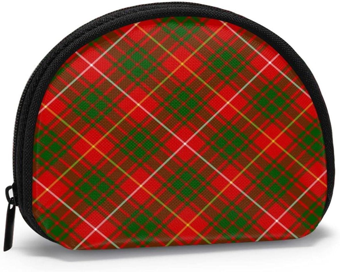 small zipper Coin Purses Vintage zipper Pouch Change Purse Wallets Bruce Clan Tartan