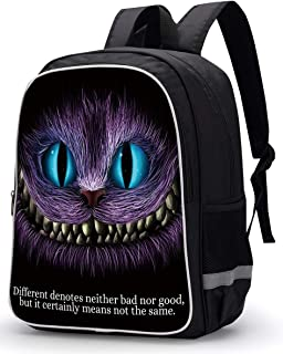 Cheshire Cat Pattern Casual Backpack School Bag Travel Bag Daypack