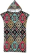 Fansu Bohemen Strandlaken Hooded Poncho, grote Microfiber veranderende Robe zwemmen Hooded Compact deken met capuchon voor...