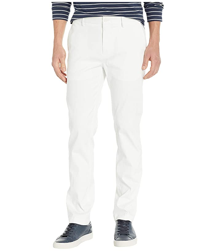 Perry Ellis  Slim Fit Stretch Resist Spill Twill Pants (Bright White) Mens Casual Pants
