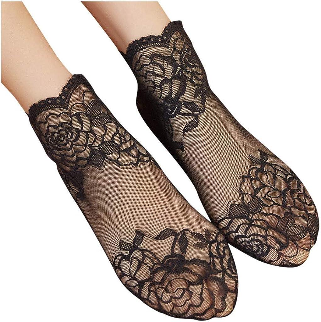 Women Cheap bargain Time sale Lace Socks Soft Sock Transparent Sheer Ankle Elastic