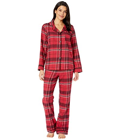 BedHead Pajamas Long Sleeve Classic Notch Collar Pajama Set (Nicholas Plaid) Women