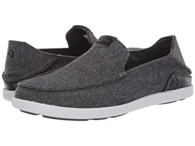 OluKai Manoa Hulu Slip-On (Dark Shadow/Black) Men
