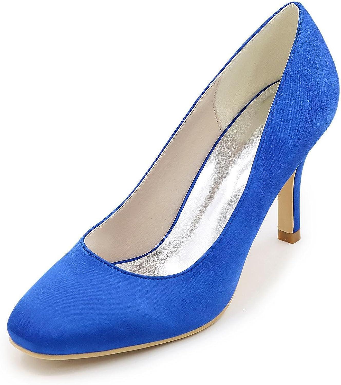 L@YC Damen-High Heels-Hochzeit Party & Festivität-Seide-Blockabsatz-absätze Quadratische Zehe-Schwarz Blau Rosa Lila Rot    Shop