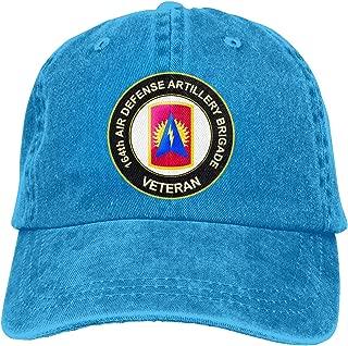 U.S. Army 164th Air Defense Artillery Brigade Veteran Adjustable Sport Jeans Baseball Golf Cap Hat Unisex Style