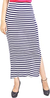 C.Cozami Women Pencil Striped Skirt for Women