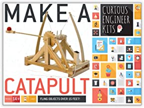 Make a working wooden Catapult Kit | Designed by Leonardo Da Vinci | Historical facts and easy instructions included | Copernicus Toys Curious Engineer Kit