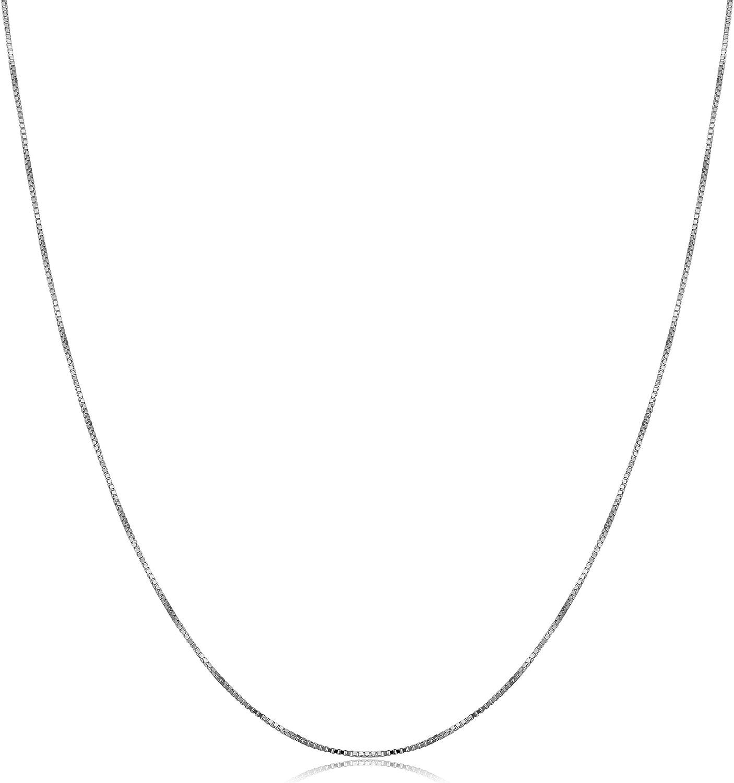 Popular shop is the lowest price challenge Kooljewelry 10k Dedication White Gold 0.5 mm 1 Chain Necklace Box Venetian