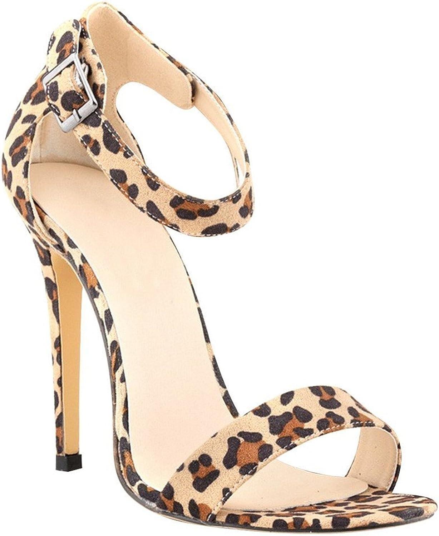 Reinhar Women Sexy High Heels shoes Ankle Strap Plus Size Party Pumps Sandals