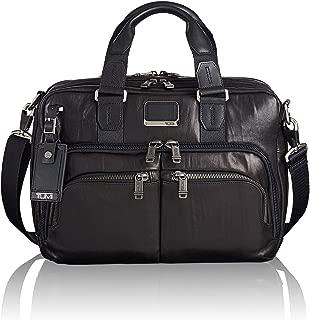 TUMI - Alpha Bravo Leather Laptop Slim Commuter Brief Briefcase - 14 Inch Computer Bag for Men and Women - Black