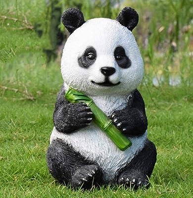 Estatuas de jardín Figura Decorativa jardín simulación figurita Impermeable jardín Estatua para Patio Paisaje césped decoración Manualidades Regalo-Panda H: Amazon.es: Jardín