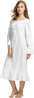 white sleeping gown