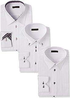 [アトリエサンロクゴ] ワイシャツ 3枚セット 色・柄おまかせset イージーケア 形態安定 長袖Yシャツ メンズ at-fux-3fix-long
