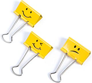 Rapesco Binder Clips, 19 mm Emoji Clips [Pack of 20]