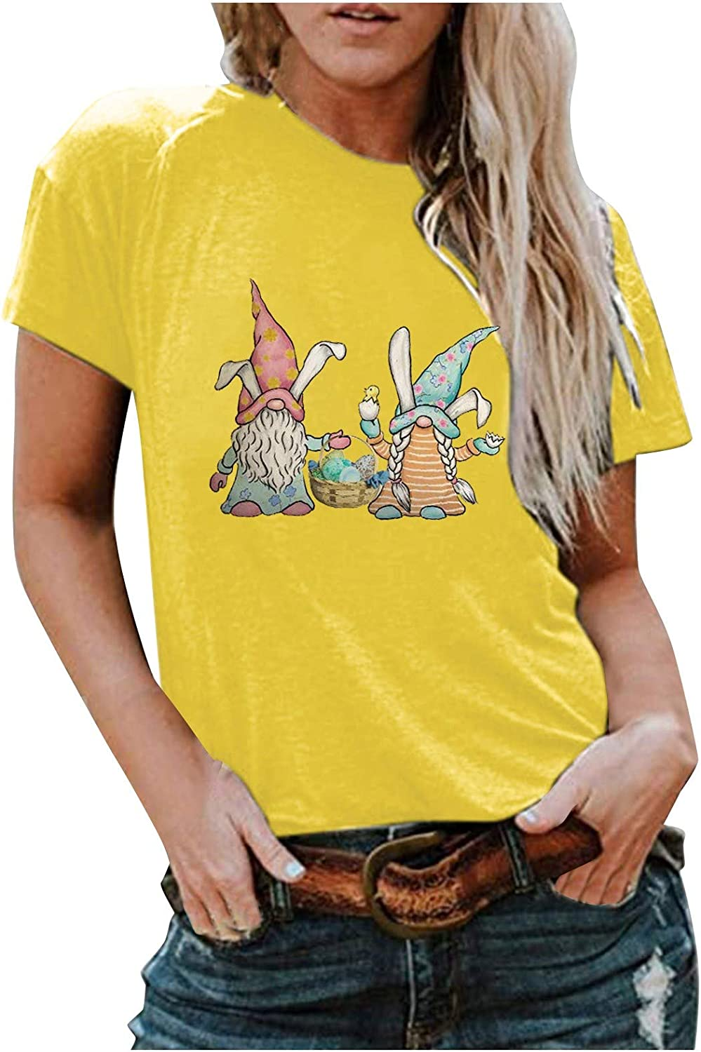 Womens Easter T Some reservation Trust Shirts Women's Bunny To Tee Print Graphic Letter