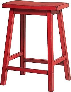 ACME Furniture barstools, Antique Red