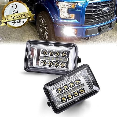 Upgrade LED Fog Lights Compatible for 2015-2018 Ford F150 4 Inch LED Fog Light