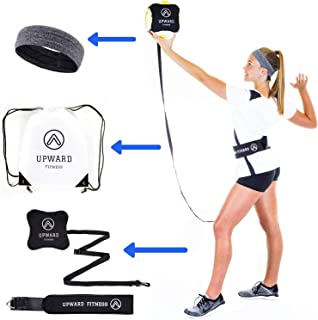 Upward Fitness Volleyball Serving Trainer - Great for Solo Practice - Serving & Hitting with Accuracy and Power -Returns B...