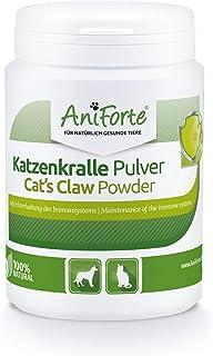 AniForte Katzenkralle Pulver für Hunde, Katzen & Pferde - Natürliche Stärkung Immunsystem & als Gelenkpulver. Gemahlene Wurzelrinde für Stoffwechsel, Abwehrkräfte & Energie