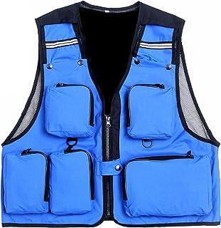 Suyi - Chaleco con bolsillos multiusos para acampadas, pesca, senderismo, caza
