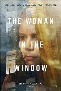 Kvinnan i fönstret (2021) Filmomslag Poster Canvastryck Väggkonst Dekoration Bild Modern Rumsinredning -20x28 tum Ingen ra...