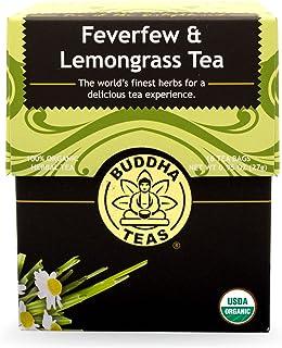 Buddha Teas Feverfew & Lemongrass Tea, 18 Count (Pack of 6)