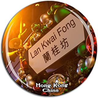 Lan Kwai Fong Hong Kong China Fridge Magnet 3D Crystal Glass Tourist City Travel Souvenir Collection Gift Strong Refrigerator Sticker