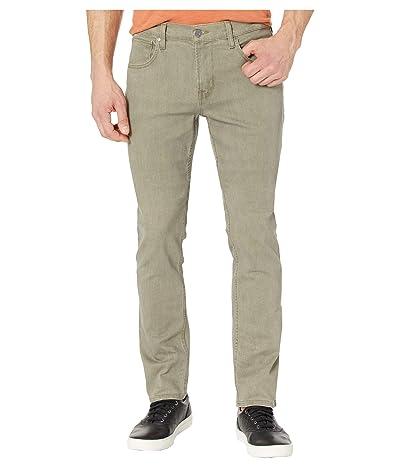 Hudson Jeans Blake Slim Straight Zip Fly in Dark Olive (Dark Olive) Men