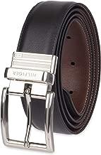 """Tommy Hilfiger Men's 32MM Black Premium Faux Leather Dress Reversible Buckle Belt 11TL08X013-090-44""""US"""