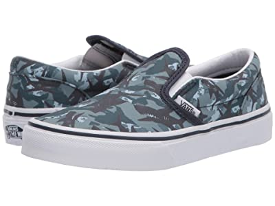 Vans Kids Classic Slip-On (Little Kid) ((Animal Camo) Parisian Night/True White) Boys Shoes