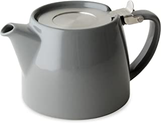 FORLIFE Stump Teapot with SLS Lid and Infuser, 18-Ounce, Gray
