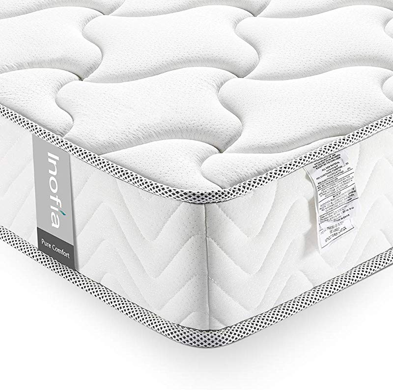 Queen Mattress 10 Inch Inofia Comfort Supportive Anti Sagging Memory Foam Mattress In A Box Medium Firm Feel Sleep Cooler Breathable Bed Mattress CertiPUR US Certified No Risk 100 Night Trial