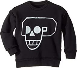 Skull Robot Patch Sweatshirt (Toddler/Little Kids)