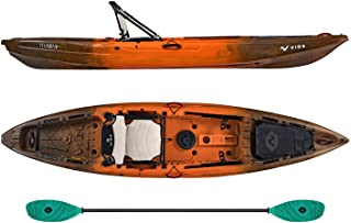 Vibe Yellowfin 120 Kayak Package 12-Foot Fishing Kayak with Framed Hero Seat and Paddle