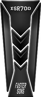 Tankpad Motorad Draht Muster Tankschutz Polymer KOMPATIBEL Yamaha XSR 700 (Black)