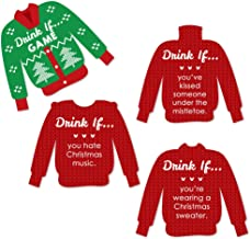 product image for Big Dot of Happiness Drink If Game - Ugly Sweater - Christmas and Holiday Party Game - 24 Count