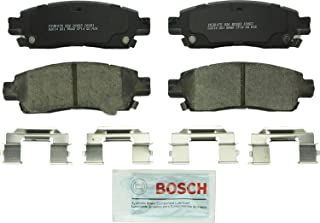Bosch BC883 QuietCast Premium Ceramic Disc Brake Pad Set For Select Buick Enclave, Rainier; Cadillac XTS; Chevrolet SSR, Trailblazer, EXT, Traverse; GMC Acadia, Envoy, XL, XUV; Oldsmobile; Saab; Rear