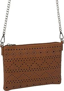 Tan Punchout Peta Crossbody Bag