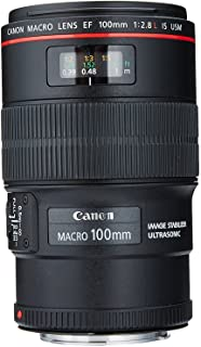 Canon EF 100mm f/2.8L is USM Macro Lens for Canon Digital SLR Cameras (Renewed)