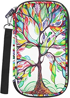 Family Travel Wallet Passport Holder, Fintie RFID Blocking Document Organizer Bag Case w/Hand Strap, Love Tree