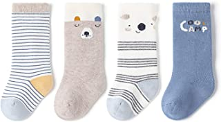Baby Knee High Socks Fashion Cotton Stocking For Toddler Kids Newborn Infant Girls and Boys 0-24 Months