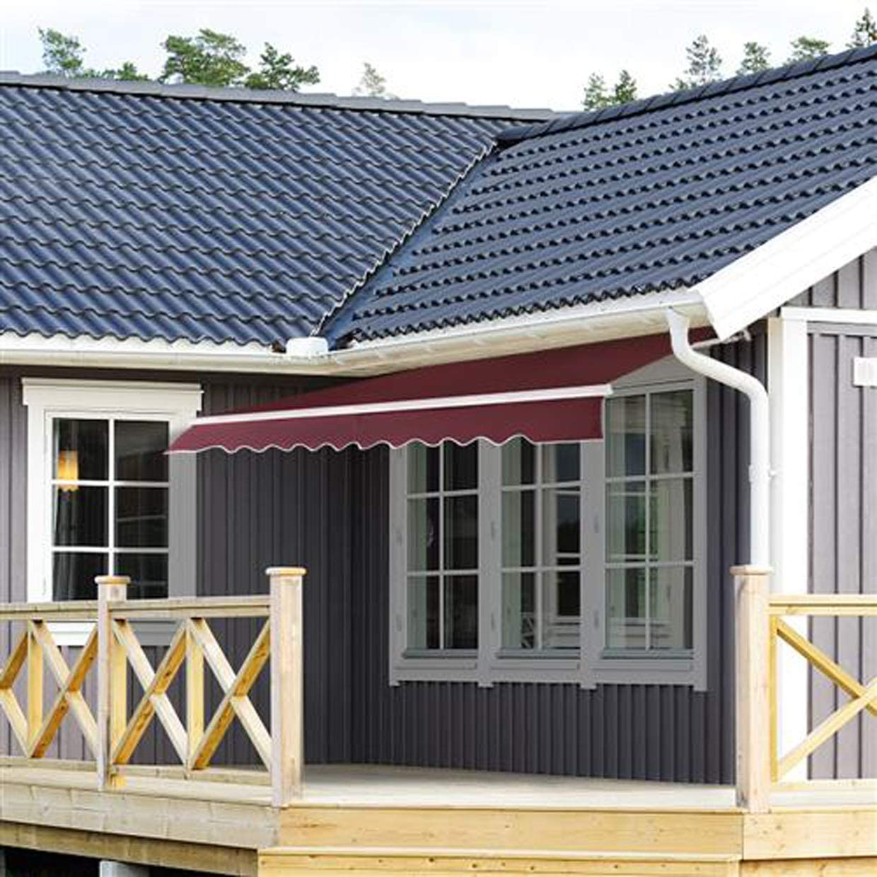 gaixample.org Manual Awning Canopy Retractable Outdoor Patio ...