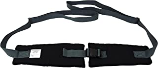 Secure SWSB-1 Soft Padded Wheelchair Positioning Seat Belt with Easy Release Buckle, Black/Gray