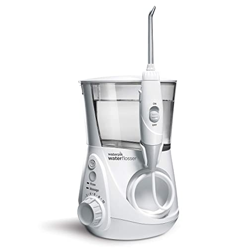 Waterpik WP-660 Water Flosser Electric Dental Countertop Professional Oral Irrigator For Teeth Aquarius White 10.35x3.8x4.7 Inch (Pack of 1)